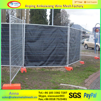 Canada Temporary Fence Removable Fence Galvanized