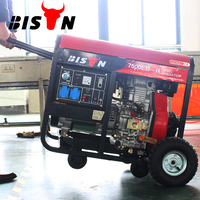 BISON(CHINA) BS7500DCE(H) Open Type 6kw 6000 Watt Air Cooled Single Phase Portable Diesel Engine 7.5 kva Generator Price