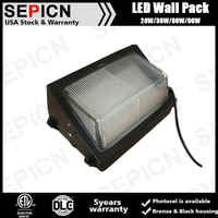 Chinese supplier factory price 120W UL DLC led wall pack light super bright outdoor wall lamp