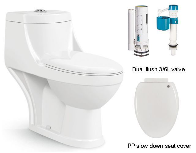 Cheap portable indoor one piece toilet for Indian market