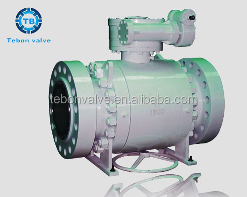 API Trunnion Stainless Steel Gear operated Ball Valve for Water, Gas & Oil