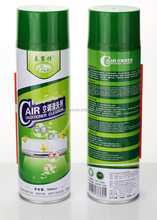 Cleaning DIY home or auto AC condensor coil and evaporator in air conditioners with detergent spray foam from aerosol cans