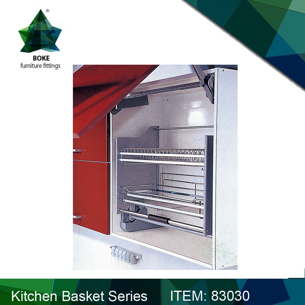 NEW Kitchen Storage Basket Lift Elevator Basket Over Refrigerator Space the only one manufacturer from China Alibaba Supplier