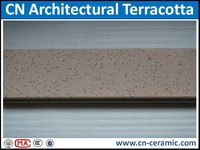 Exterior curtain wall cladding terracotta panel