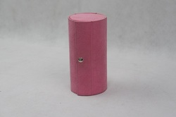 4 Tier Compartment Mini Velvet Travel Roll Up Jewelry Box Case Organizer Holder with Snap Closure -Pink