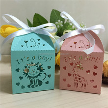 Cheapest Perfect Design Cute Animal Candy Gift Box Laser Cut in Pink Green
