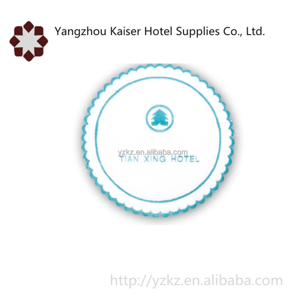 hotel supplies disposable tissue paper coasters