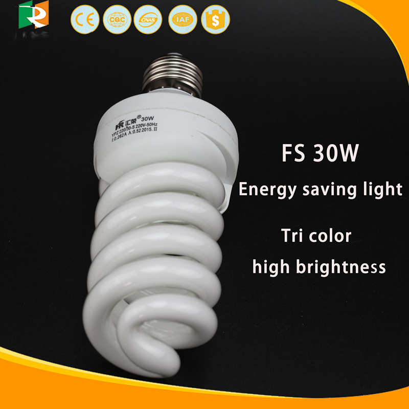 best price factory high quality cfl 30W energy saving lamp B22 E27 base tri color full spiral light