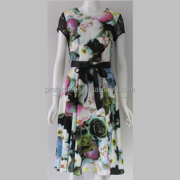 Pretty steps 2017 short sleeve Multi Belted Floral Special Occasion <strong>Dresses</strong>