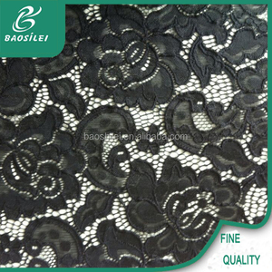 top quality french glitter and lace trim fabric in rolls for ladies dress