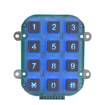 Illuminated safe CE approved Access Control Number Back lighting keypad
