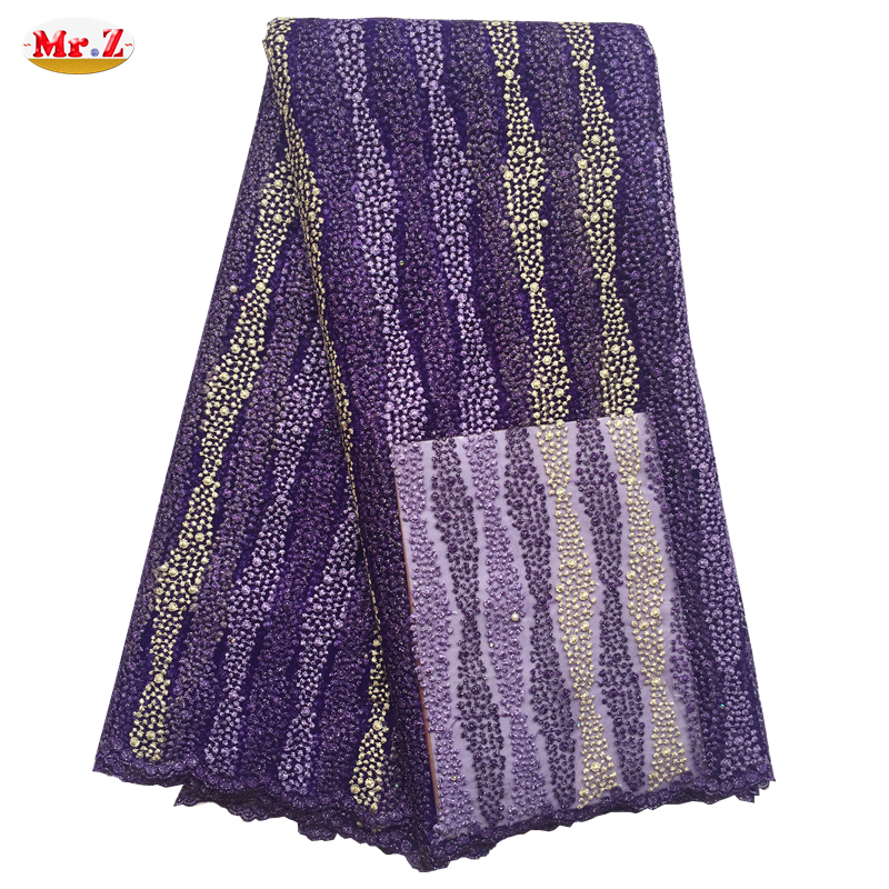 Guangzhou Handcut African Lace Fabric Wedding Embroidery Fabric N1079