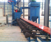 China factory price steel pipe surface descaling shot blasting machine