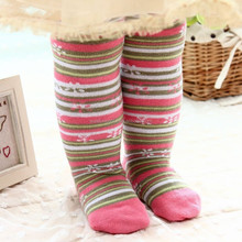 Cheap tripe Pattern Girls Striped Colored Tights for kids