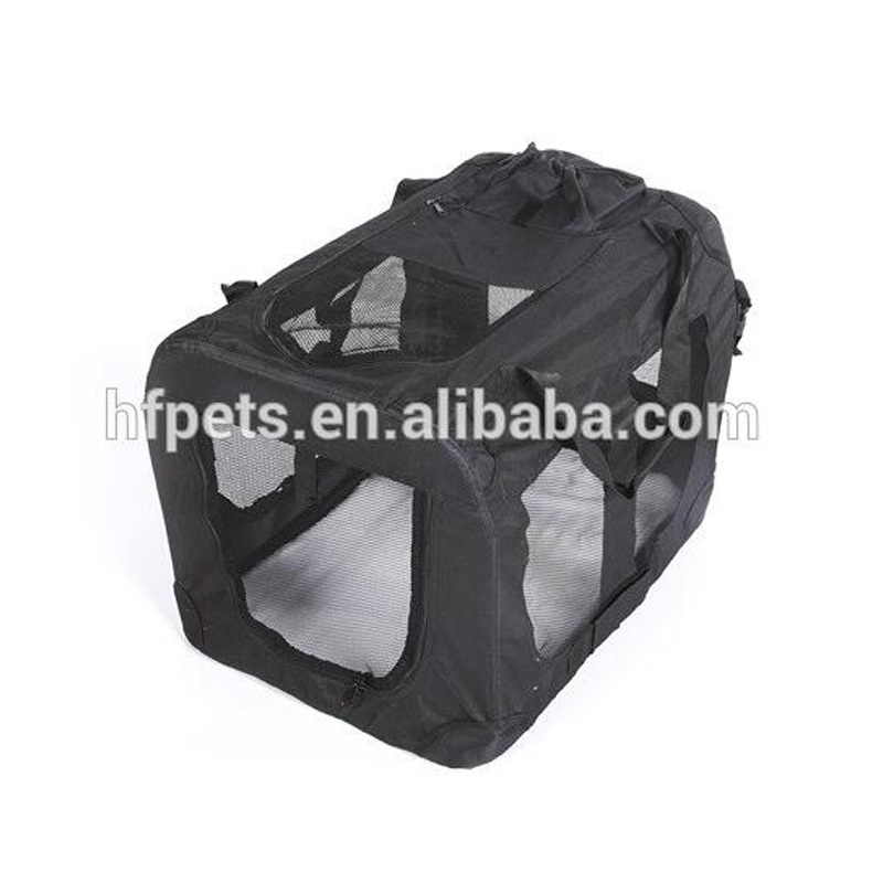 OEM/ODM Available Wholesale Black Portable Soft Dog Crate In High Quality
