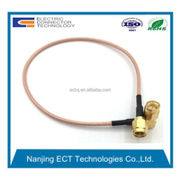 90 degree SMA to SMA connector cable for rg316