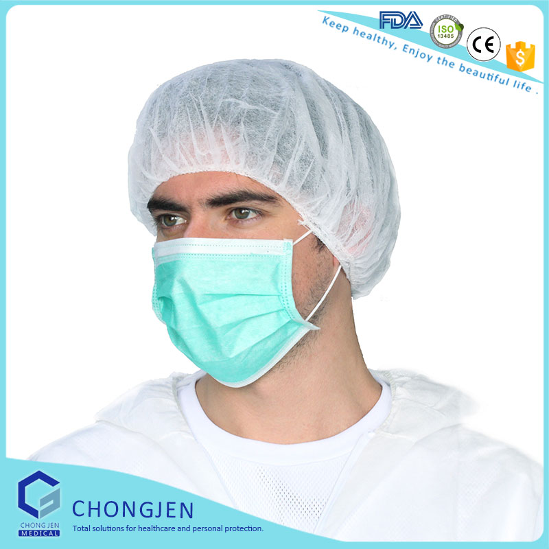 Disposable nonwoven paper nurse surgical caps