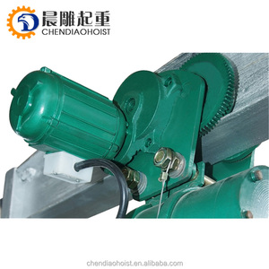 1 2 3 5 ton electric wire rope motor hoist with trolly construction cable pulling winch kito ceane hoist