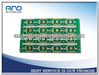 Double sided half hole pcb circuit board with immersion gold treatment