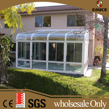 lowes sunrooms prefabricated green sunroom roof aluminium frame curved garden glass houses