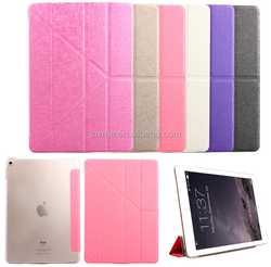 For iPad case, for iPad mini multi-folding stand leather case, for iPad PU case