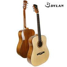 Excellent handcrafted chinese solid wood acoustic guitar