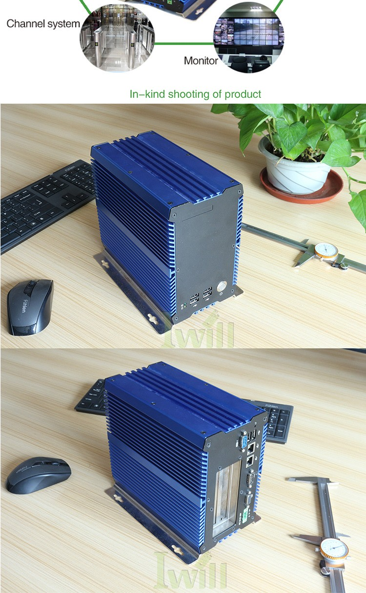 Latest computer's configuration IBOX-701 fanless i7 pc rugged