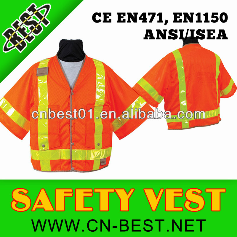 high visibility reflective safety vest long sleeve
