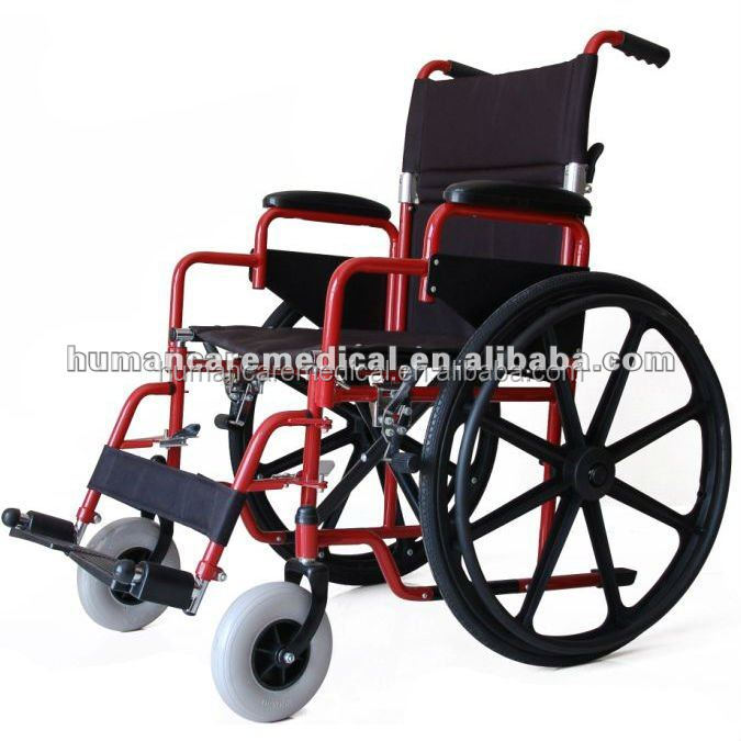 24 inch pneumatic wheels quick release wheelchair