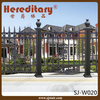 New design black color painting finish aluminum fence for garden