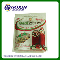 Custom Factory Price Food Grade Reseal Plastic Zip Lock Flat Bottom Bags
