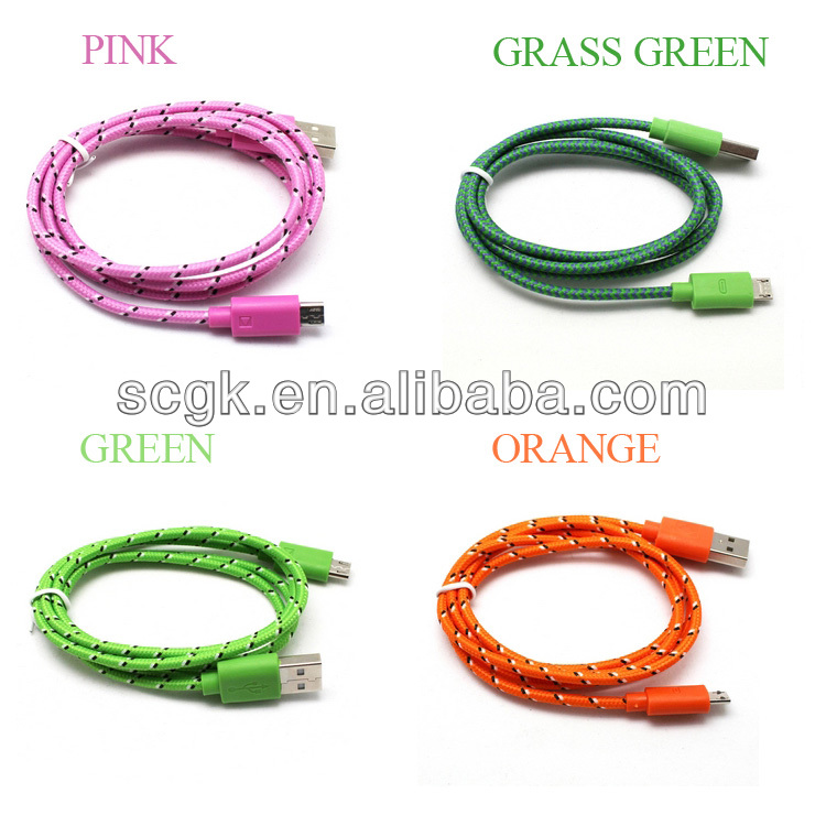 High Speed Data Transmission USB Cable braid cable micro usb to vga cable