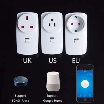 Best selling app remote control US UK EU wifi enabled socket alexa wifi smart plug