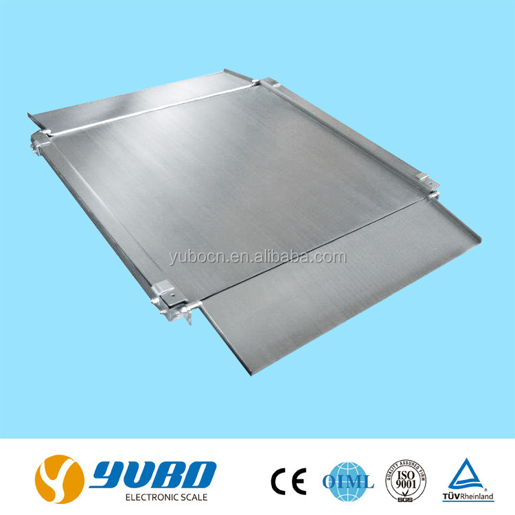Ultra-low stainless steel 1000kg digital weighing floor scale / platform weighing scales with ramps