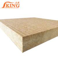 Thermal insulation rock wool acoustic wall panel
