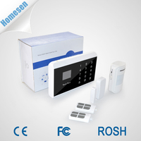 Strong Wireless Signal Received GSM PSTN Dual Network Burglar Alarm System