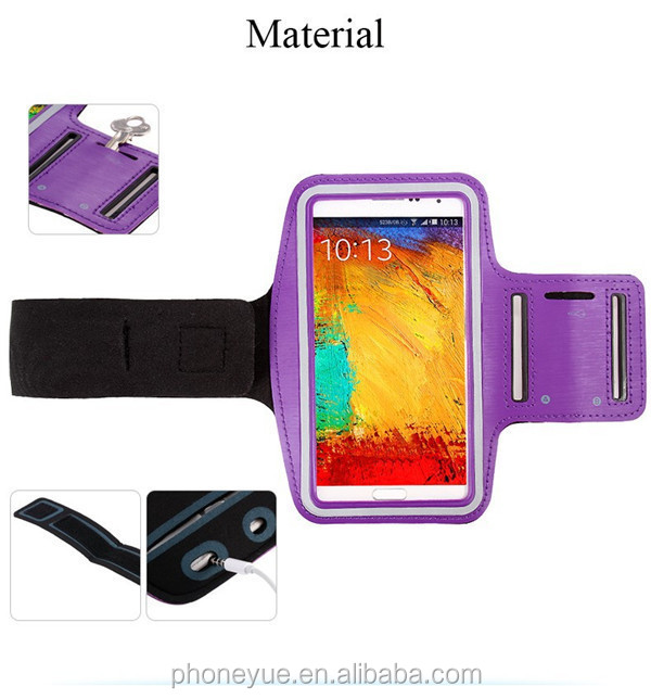 running jogging waterproof mobile cell phone sport armband case for samsung s6