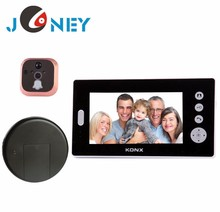 Hot 7 Inch wireless peephole color video door phone/video door bell/ intercom system
