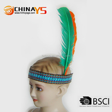 Hot selling new design wholesale products cheap feather headbands for babies