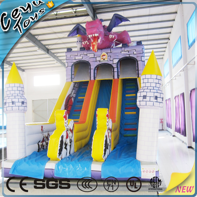Fire-breathing Dragon Inflatable Slide Indoor Playground Equipment