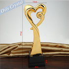 The new custom metal trophy Crystal trophy customized lettering pentagram Creative competition good staff
