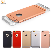 3 in 1 Metal Plating Fram PC Hard Case Cover for iPhone 6s 7 8 X