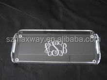 Hot Selling clear acrylic bathroom amenity tray serving tray
