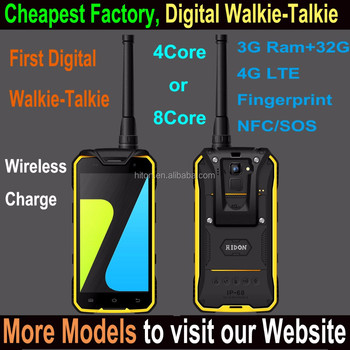 Highton Cheapest 4.7 inch Android waterproof rugged phone 4G Rugged Smartphone with Digital Walkie Talkie