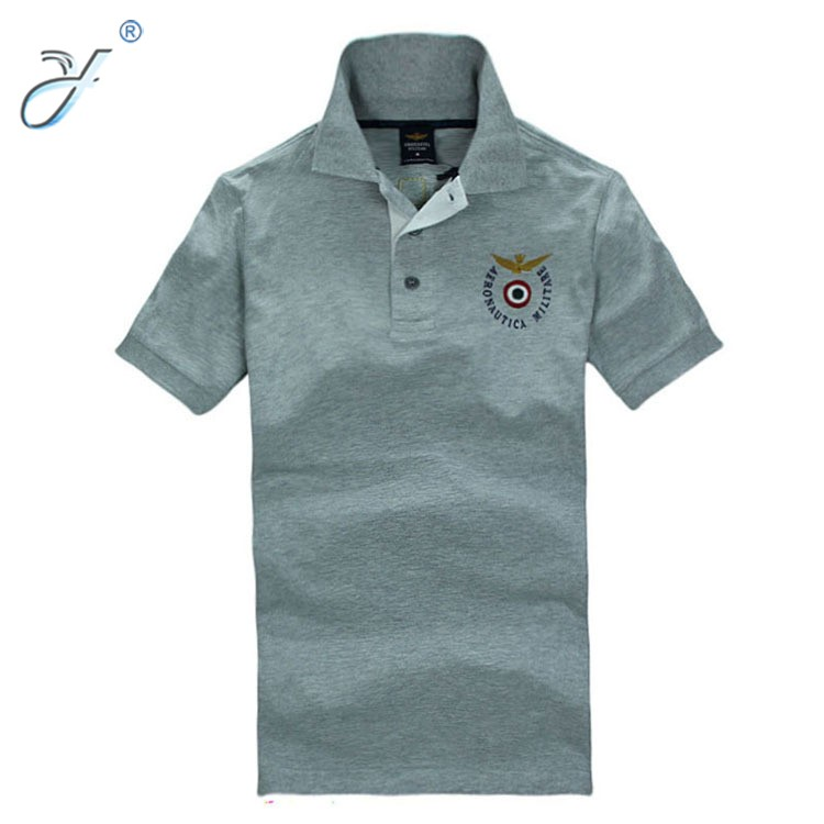 Customized Embroidery Men's Polo Shirt with Flag Logo