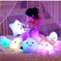 Romantic Gifts light cute pillow light music luminous multi-color led glowing pillow series shape pillow