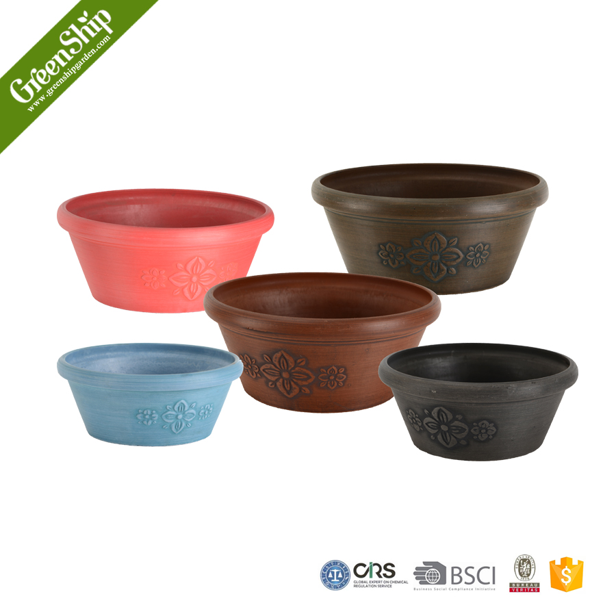 10TA series Garden Decorative Round Plastic Cheap Flower Pots/ lightweight/ 20 years lifetime