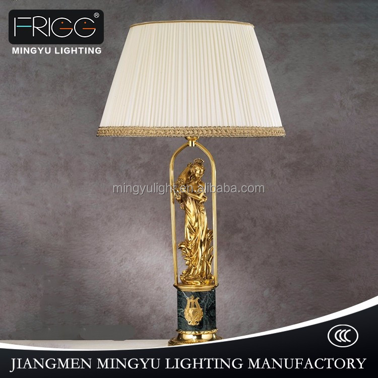Antique Cheap led marble brass Table Lamp for Hotel Decorative Table Lamp