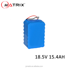 High quality Lithium Ion 18650 Battery Pack 18.5V 15.4Ah for Medical Instrument/Power Tools/Industrial Instrument