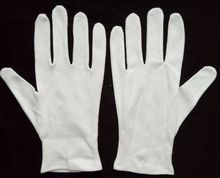 nature white cotton thin cotton gloves liner for watch industry gloves